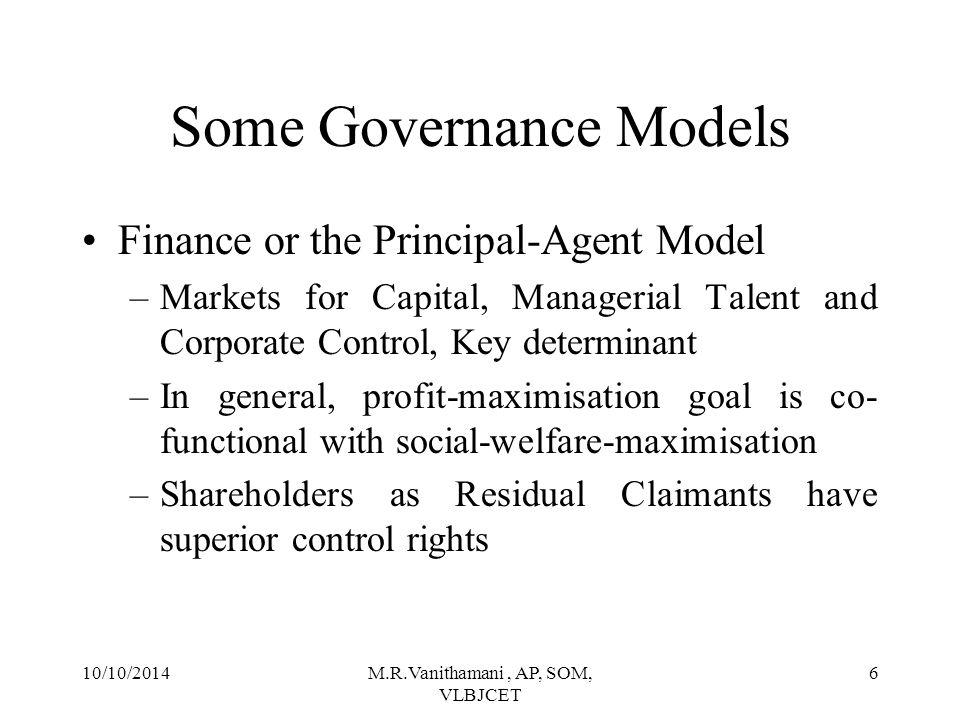 Some Governance Models