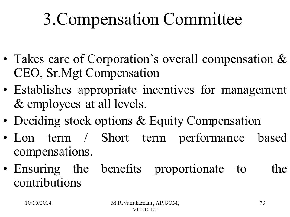 3.Compensation Committee