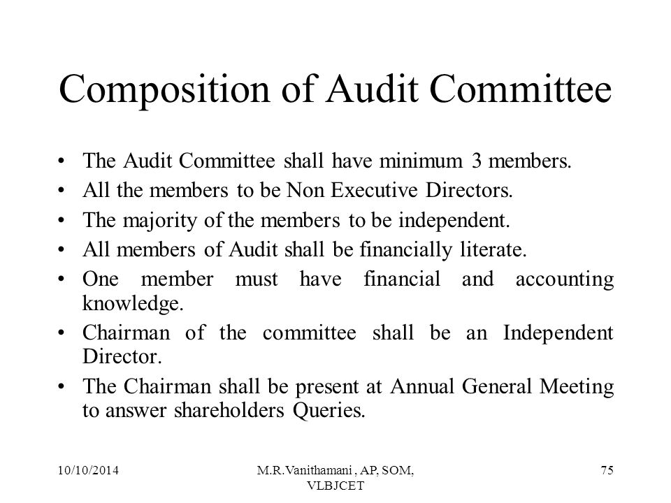 Composition of Audit Committee