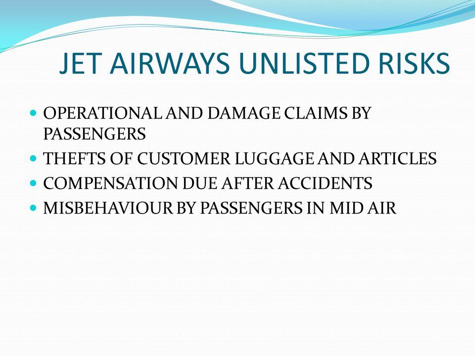 JET AIRWAYS UNLISTED RISKS
