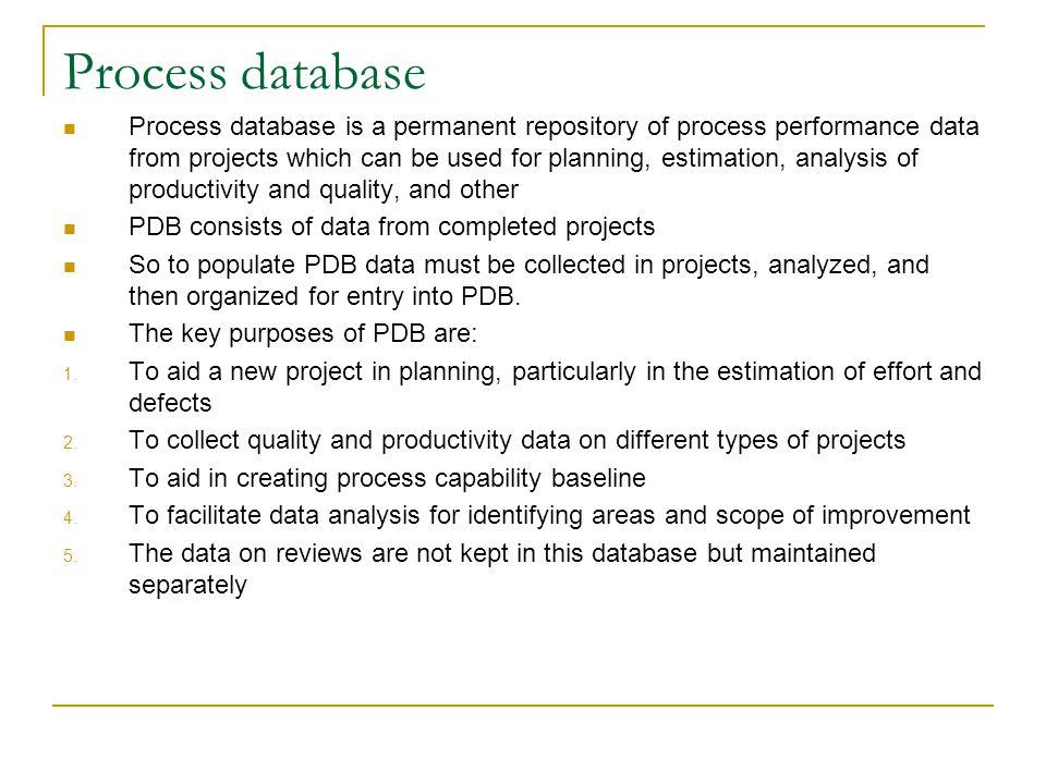 Process database