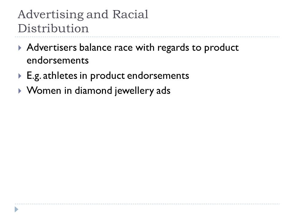 Advertising and Racial Distribution