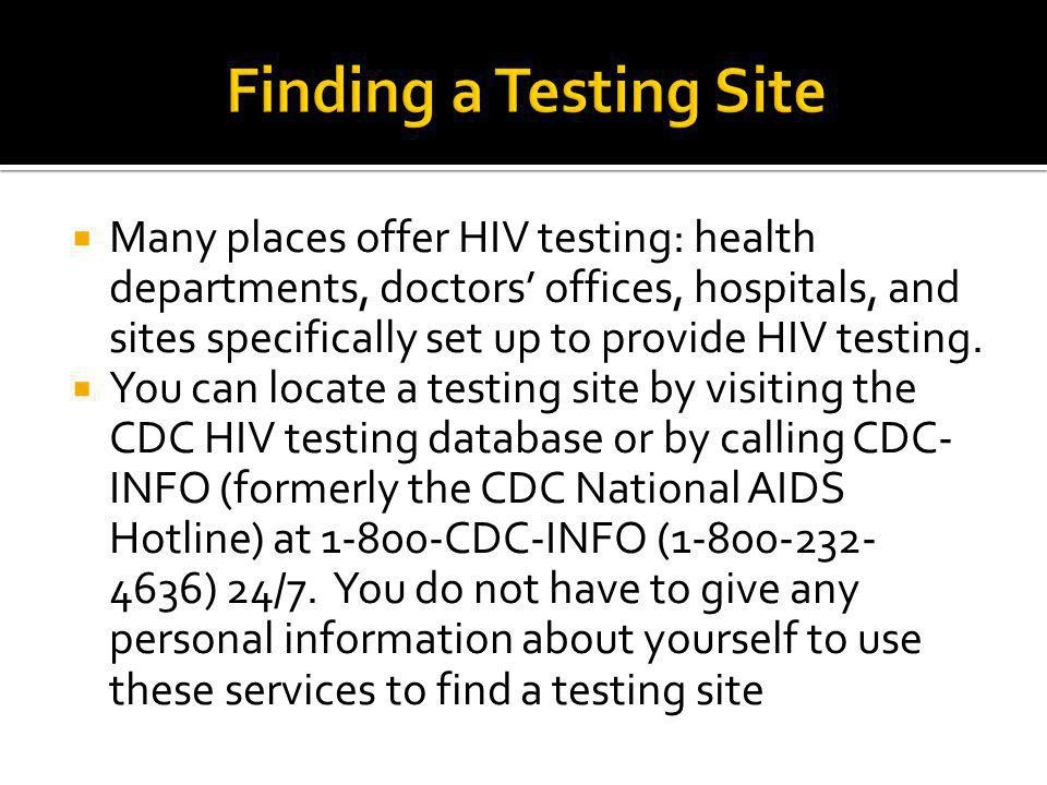 Finding a Testing Site