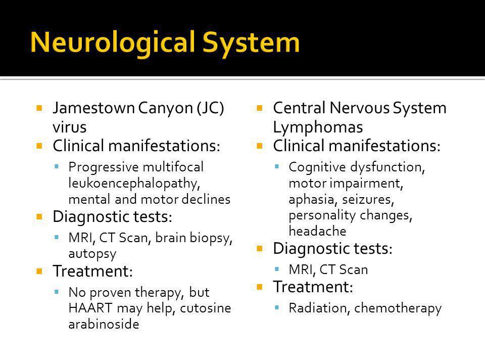 Neurological System Jamestown Canyon (JC) virus