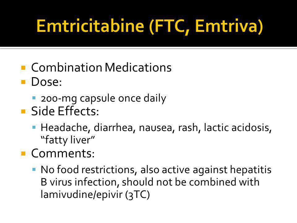 Emtricitabine (FTC, Emtriva)