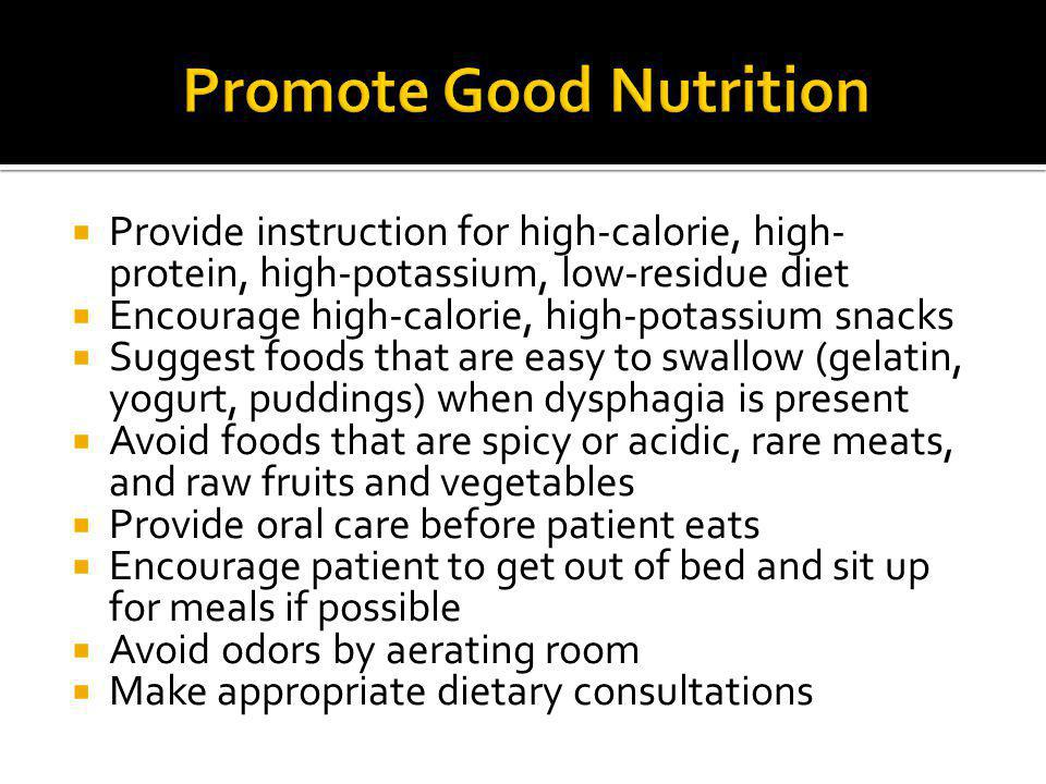 Promote Good Nutrition