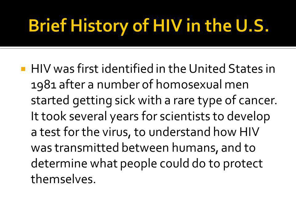 Brief History of HIV in the U.S.