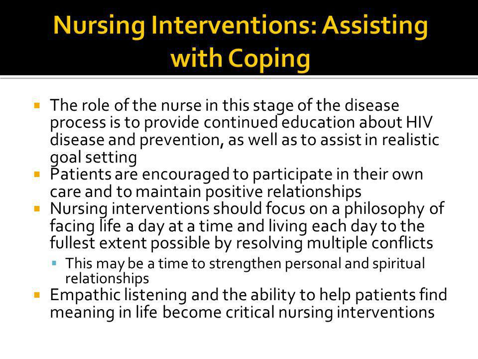 Nursing Interventions: Assisting with Coping