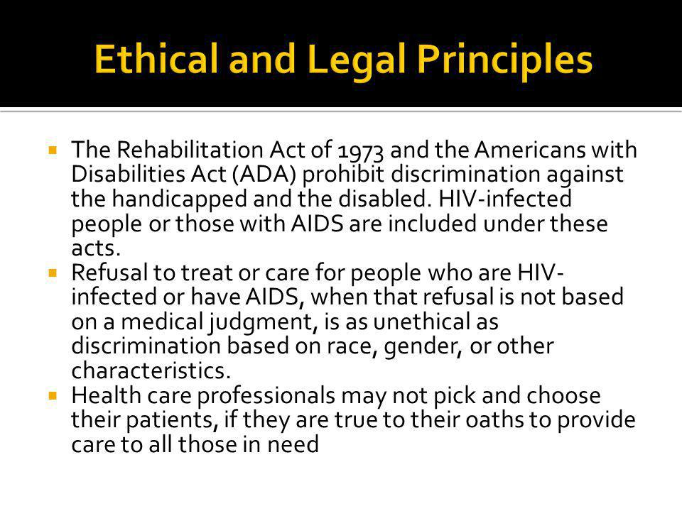 Ethical and Legal Principles