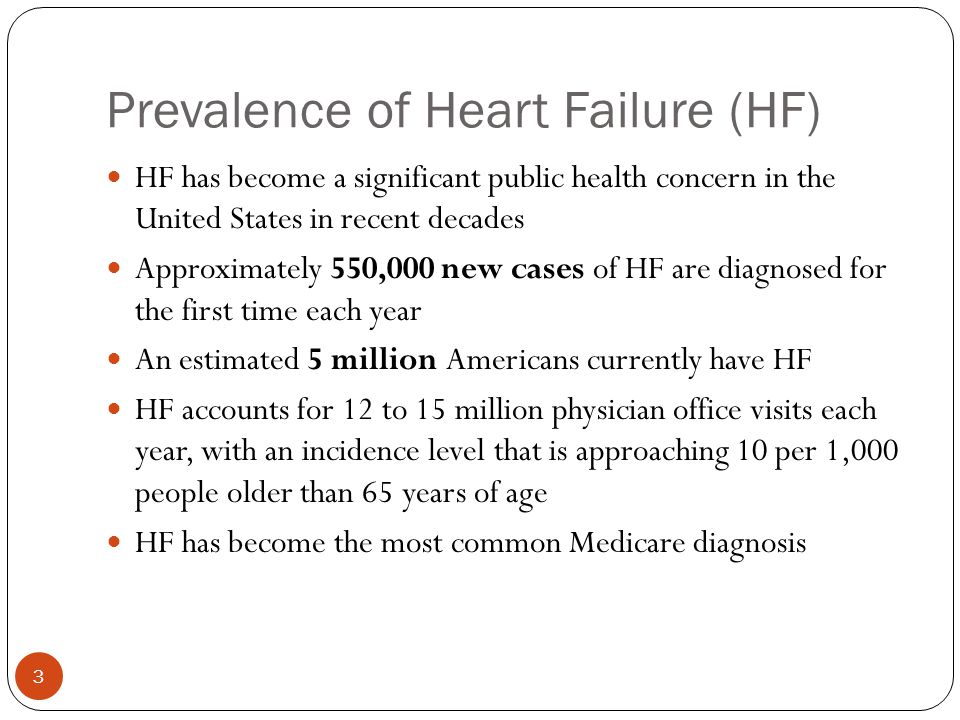 Prevalence of Heart Failure (HF)