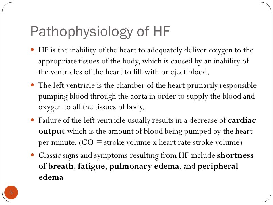 Pathophysiology of HF