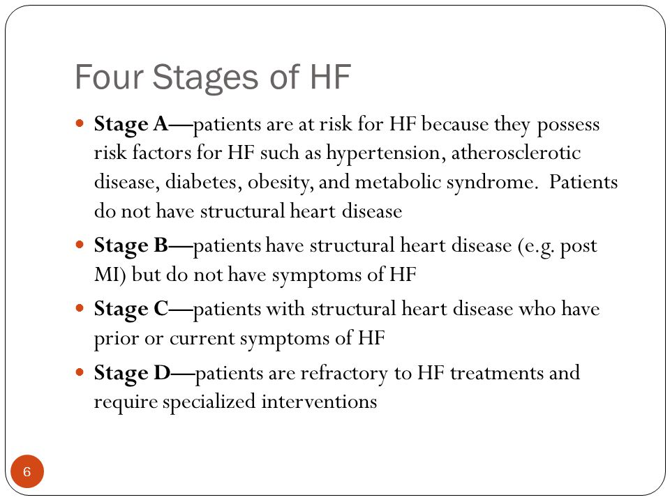 Four Stages of HF
