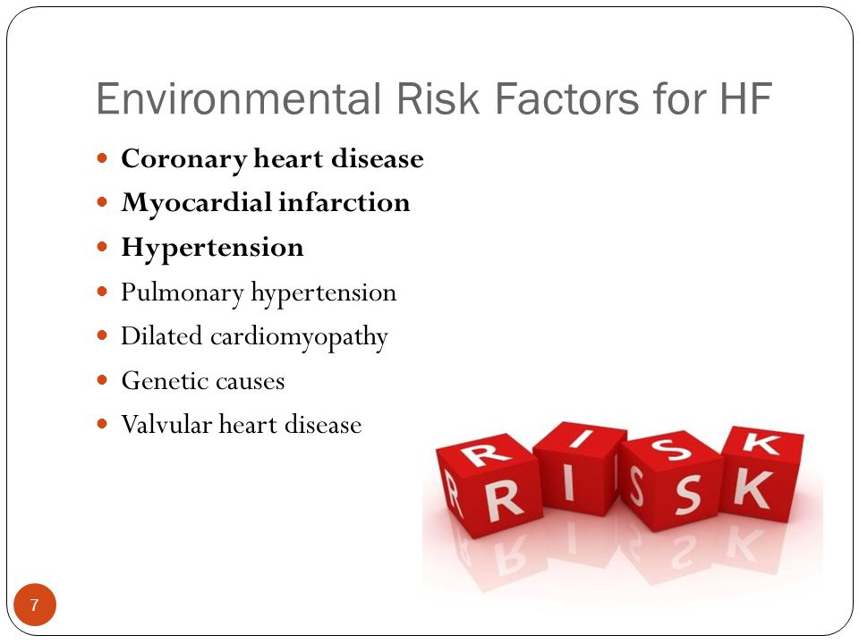 Environmental Risk Factors for HF