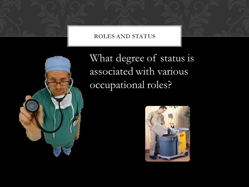 What degree of status is associated with various occupational roles