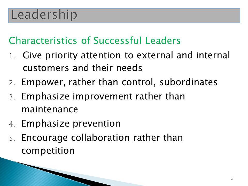 Leadership Characteristics of Successful Leaders