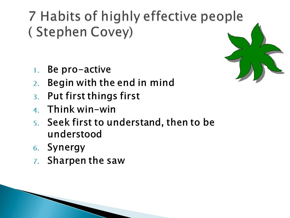 7 Habits of highly effective people ( Stephen Covey)