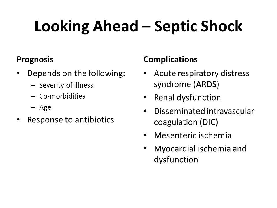 Looking Ahead – Septic Shock