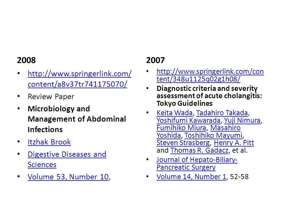 2008 2007 http://www.springerlink.com/content/a8v37tr741175070/