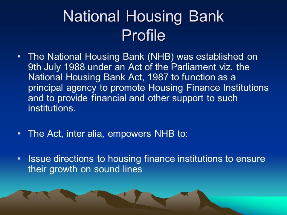 National Housing Bank Profile