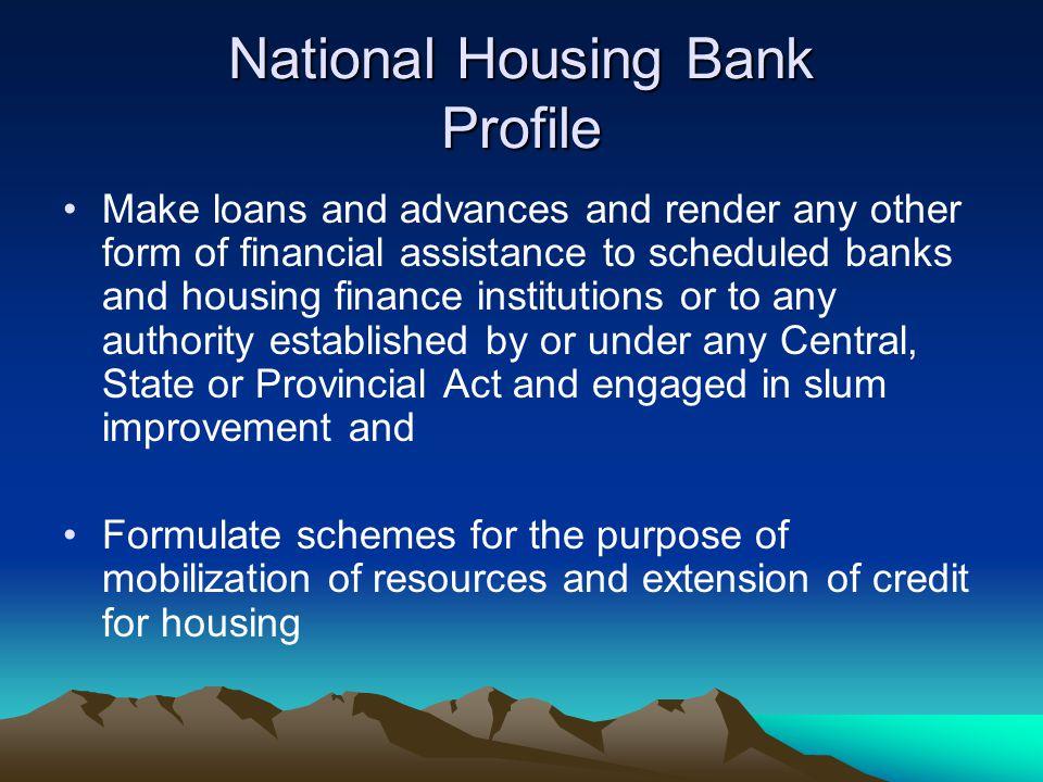 National Housing Bank Profile