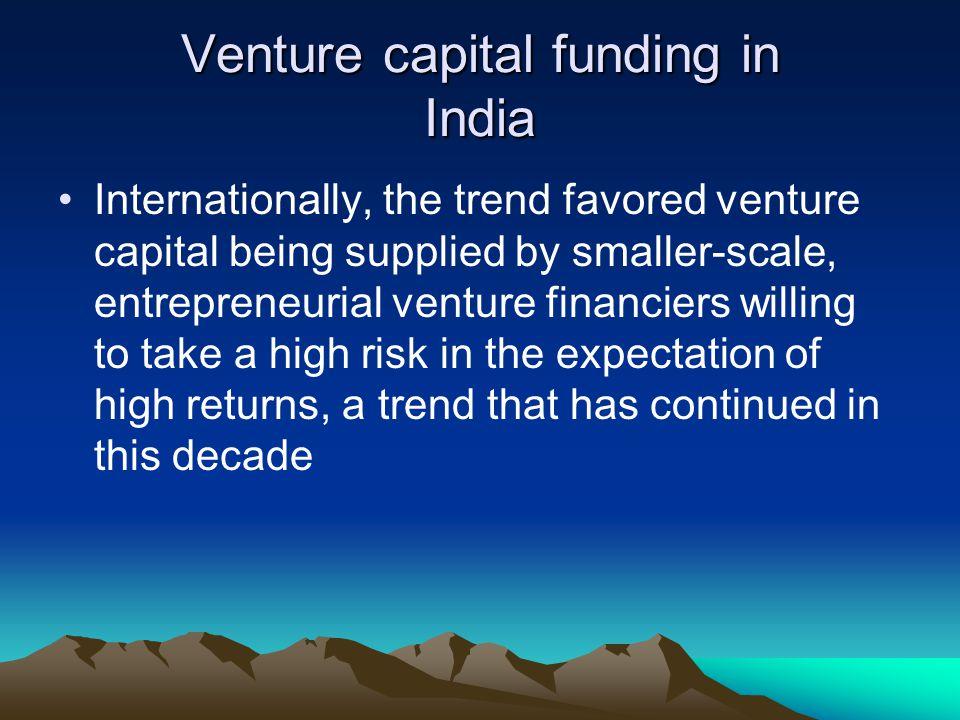 Venture capital funding in India