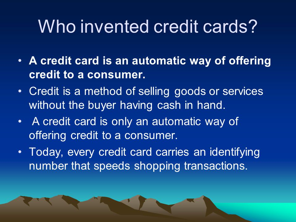 Who invented credit cards