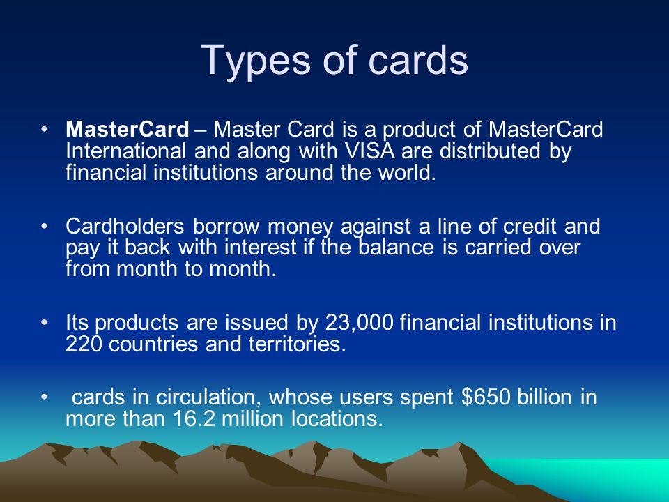 Types of cards