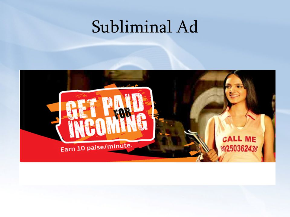 Subliminal Ad