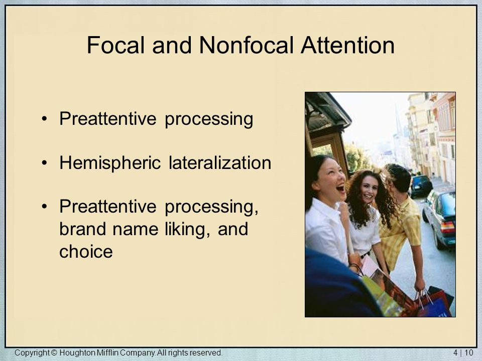 Focal and Nonfocal Attention