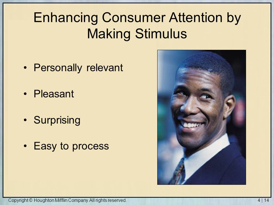 Enhancing Consumer Attention by Making Stimulus
