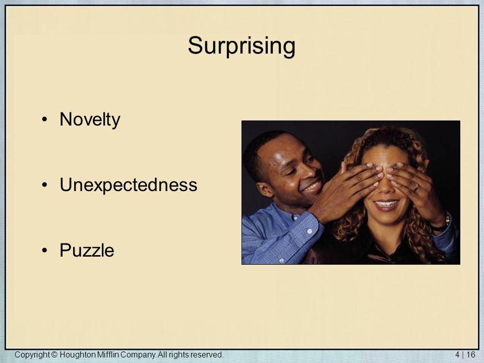 Surprising Novelty Unexpectedness Puzzle