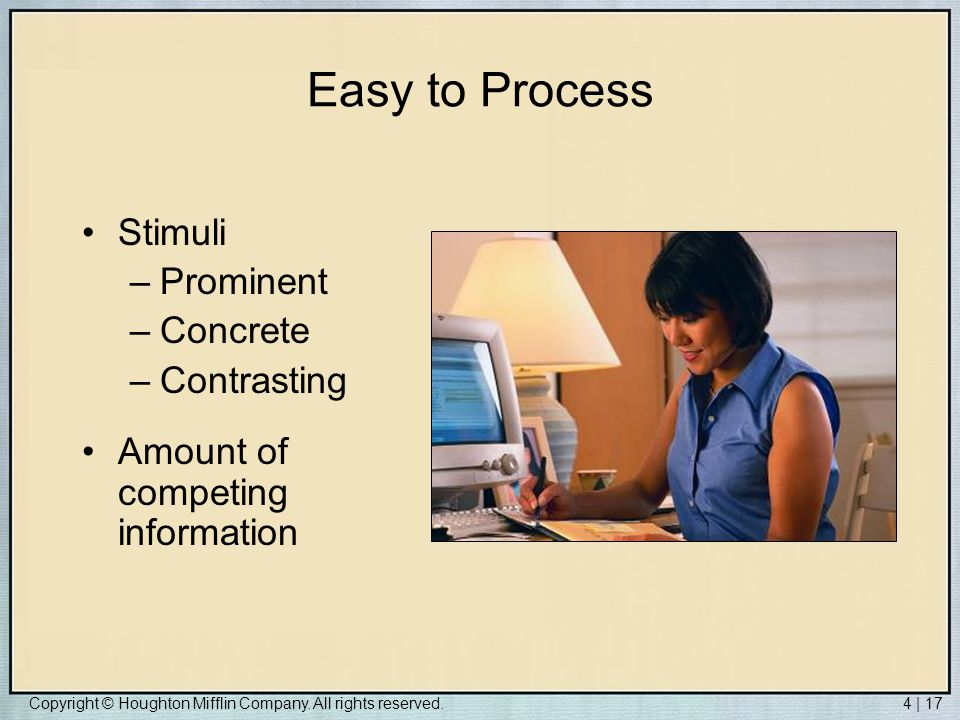 Easy to Process Stimuli Prominent Concrete Contrasting
