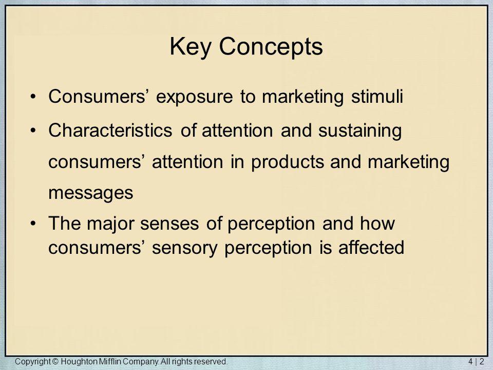 Key Concepts Consumers' exposure to marketing stimuli