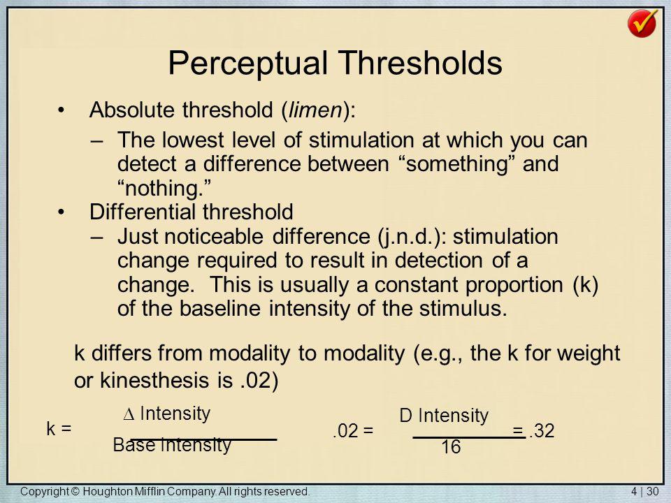 Perceptual Thresholds