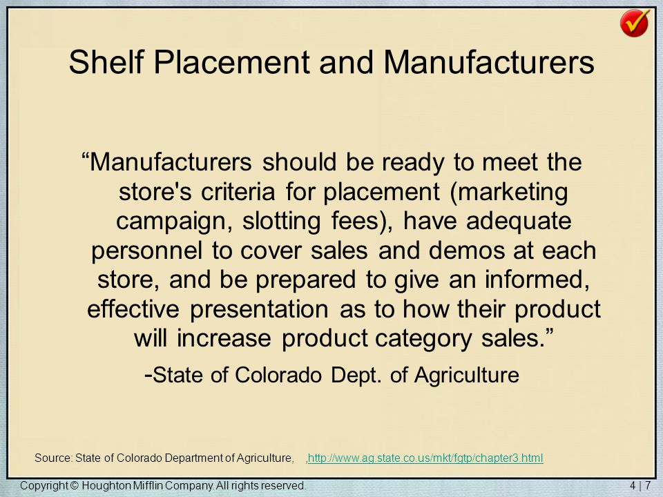 Shelf Placement and Manufacturers