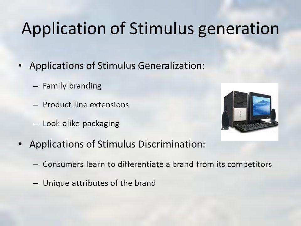 Application of Stimulus generation