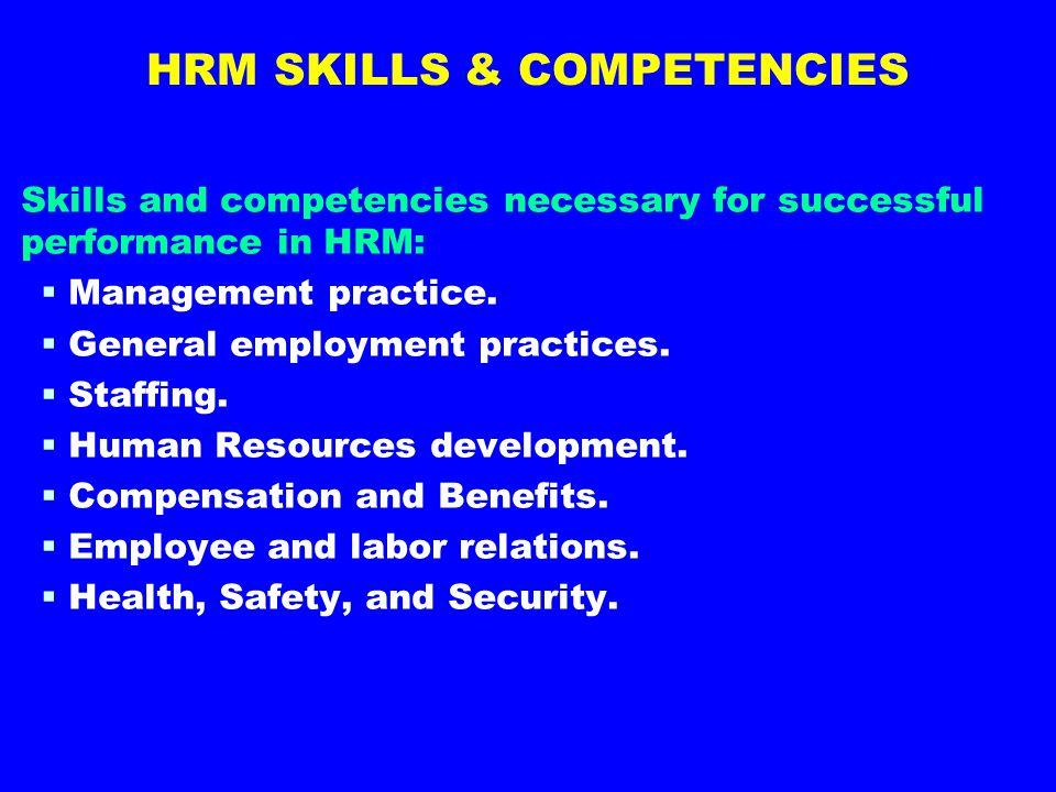HRM SKILLS & COMPETENCIES