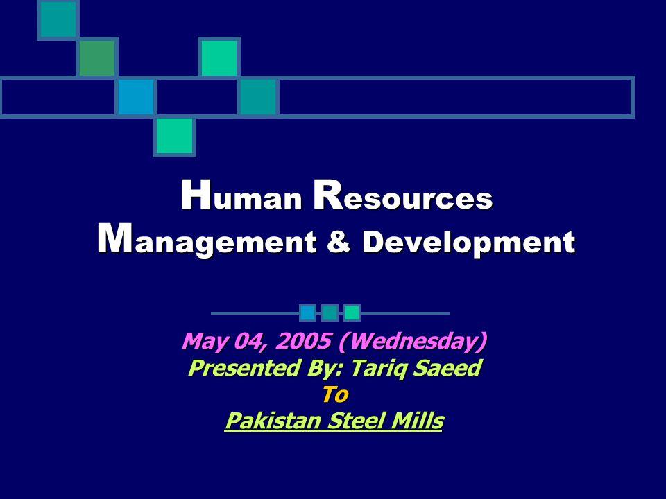 Human Resources Management & Development