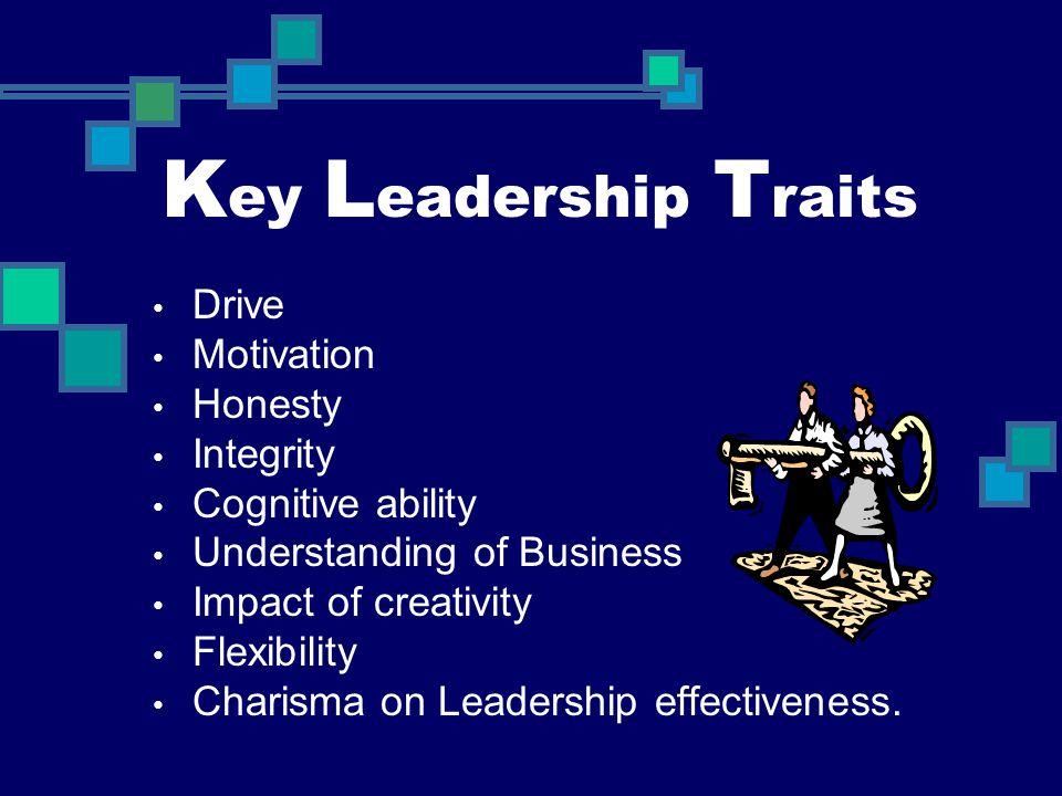 Key Leadership Traits Drive Motivation Honesty Integrity