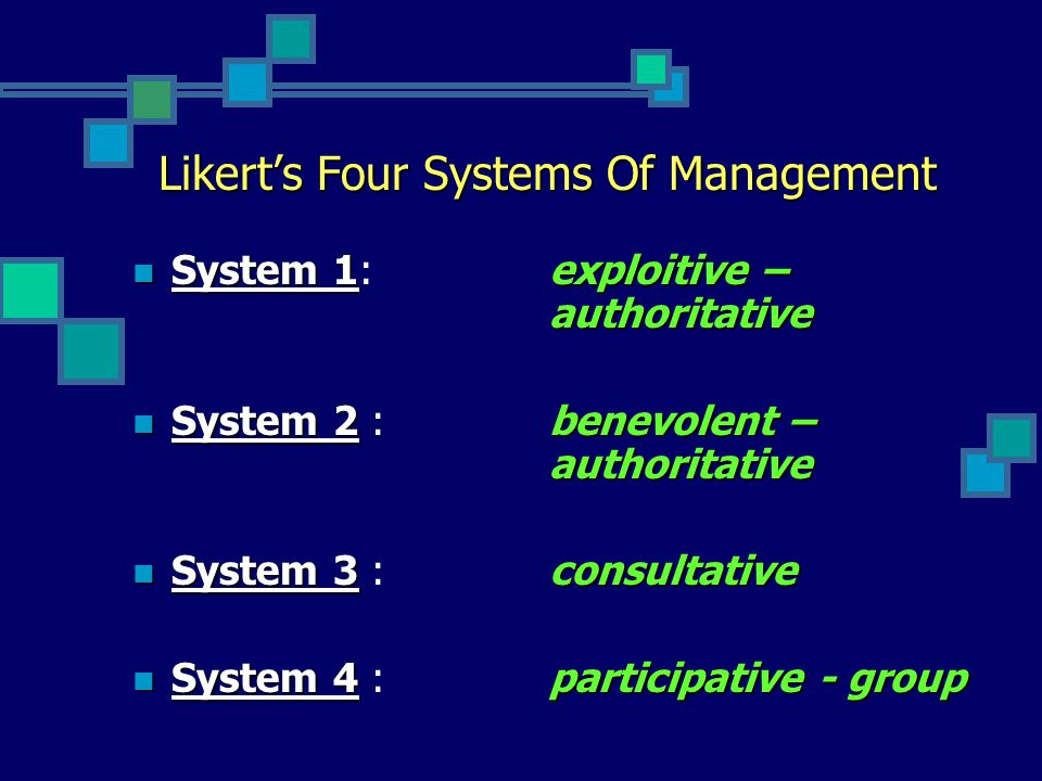 Likert's Four Systems Of Management