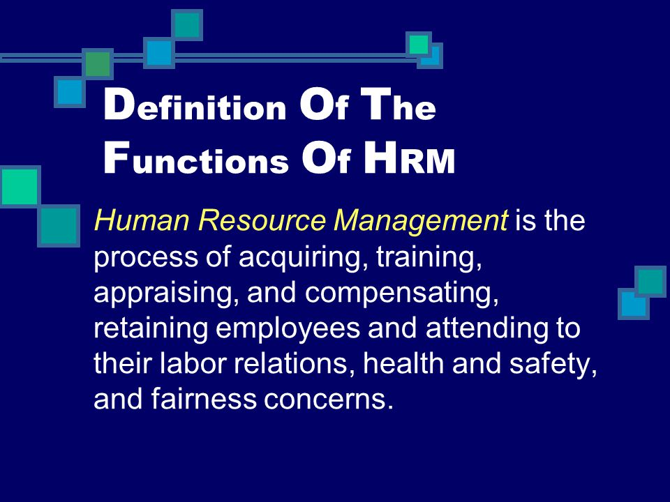 Definition Of The Functions Of HRM