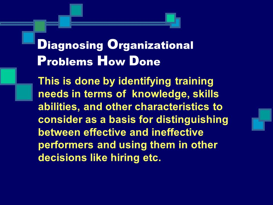 Diagnosing Organizational Problems How Done
