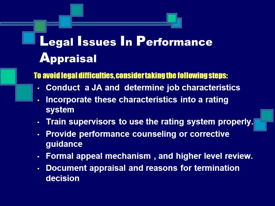 Legal Issues In Performance Appraisal