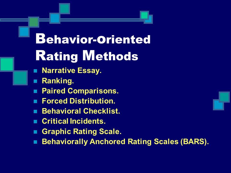 Behavior-oriented Rating Methods