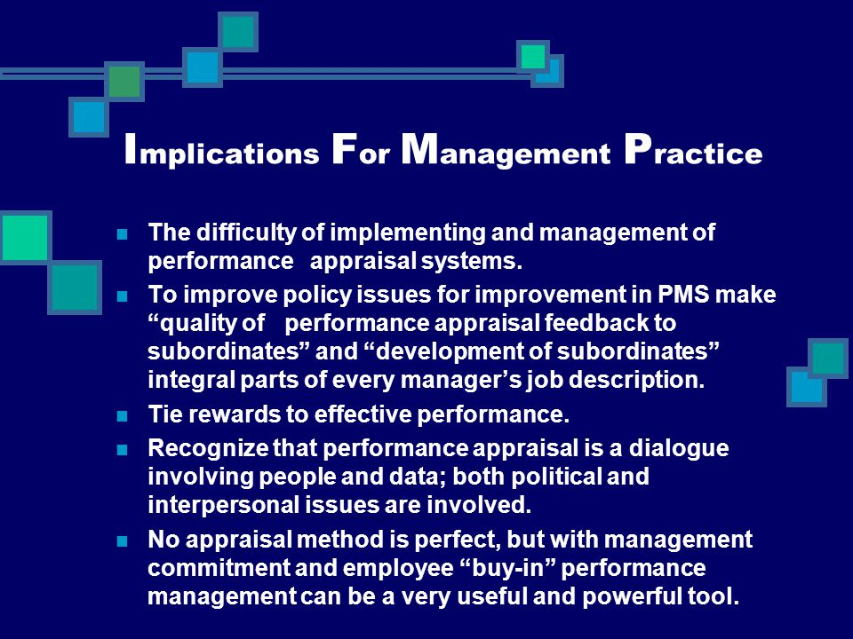Implications For Management Practice