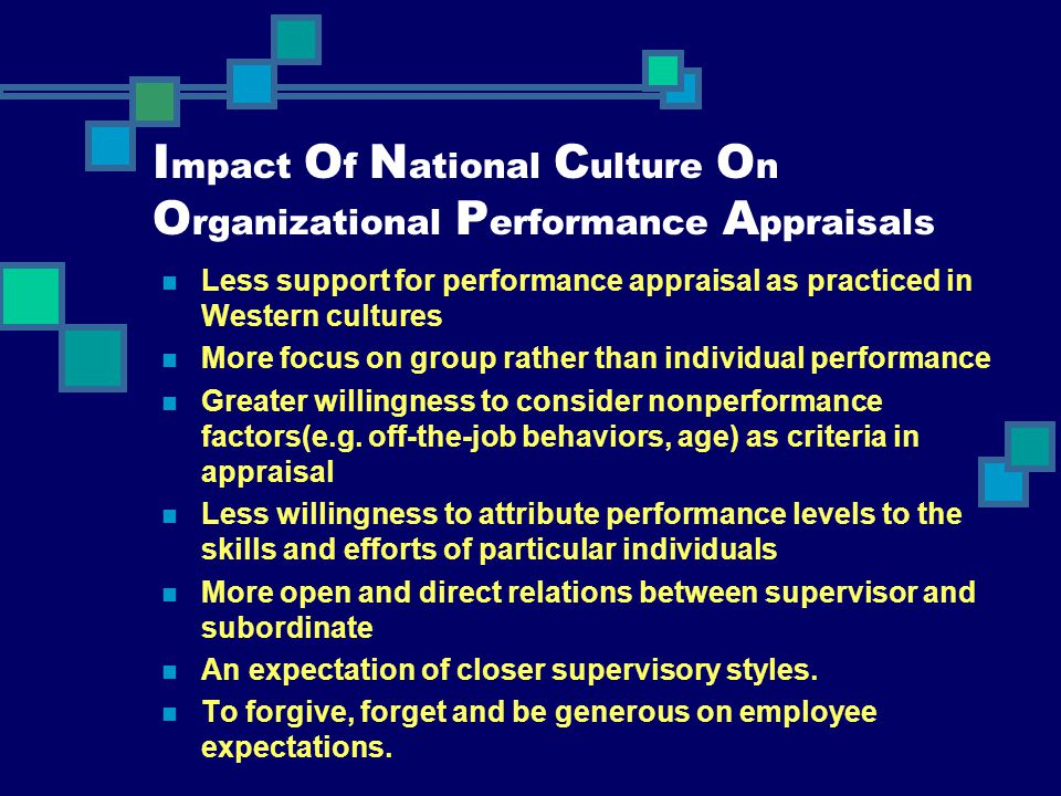 Impact Of National Culture On Organizational Performance Appraisals