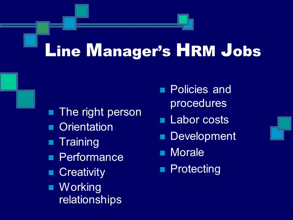 Line Manager's HRM Jobs