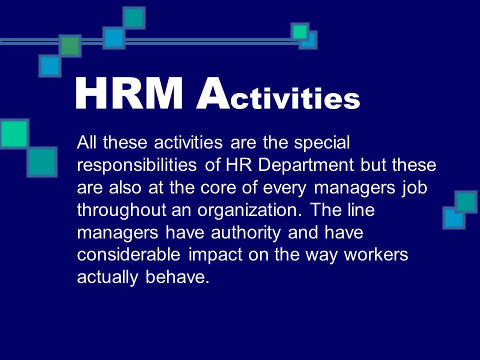 HRM Activities