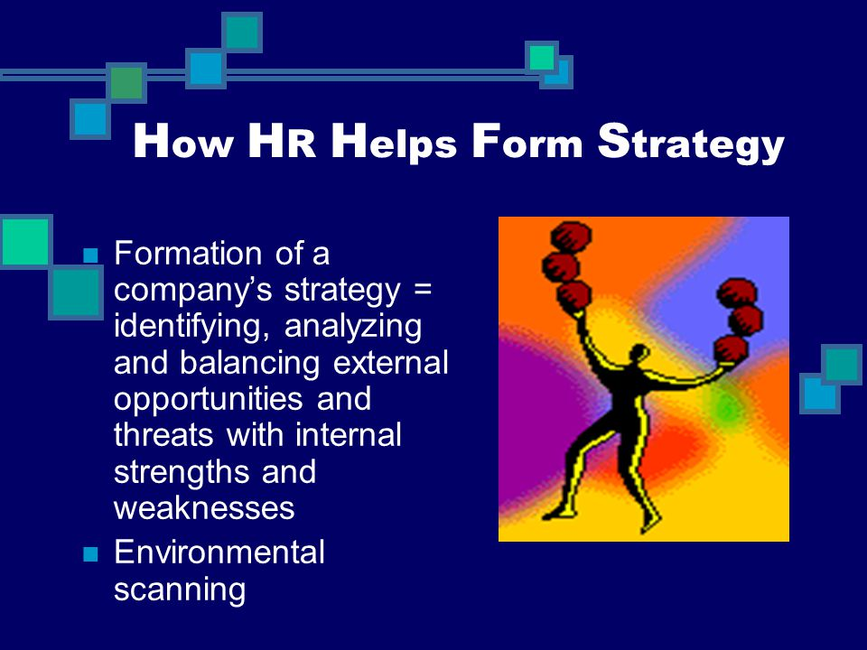 How HR Helps Form Strategy