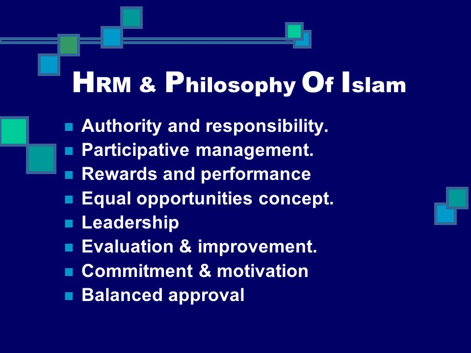HRM & Philosophy Of Islam